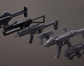3D model Submachinegun Set 1