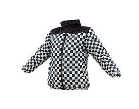 Racing Checkered Jacket 3D