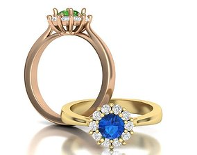 3D printable model Classic Diana Engagement