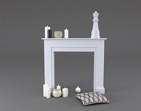 3D Fireplace Mantel Freeport MAISONS DU MONDE