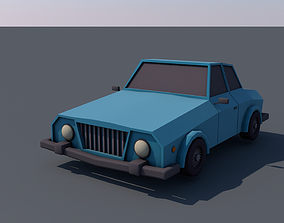 Low Poly Car 3D model rigged