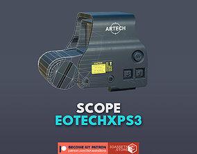 Weapon - Scope - 01 - EoTechXPS3 3D asset