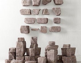3D Rock stone collection