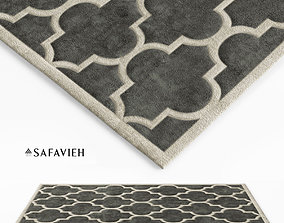 3D model Tufted Dark Grey Area Rug