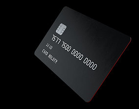 atm Customizable Credit Card 3D