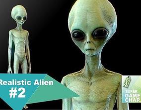 3D asset Realistic Alien 2