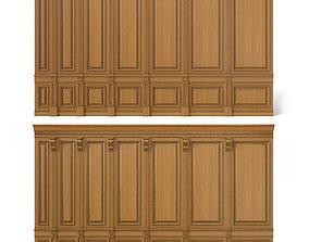 3D model wooden panel 02 03