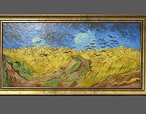 3D model Bronze Frame with Stretcher and Van Gogh Oil