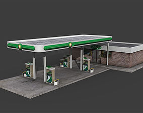 Gas Station game 3D asset realtime