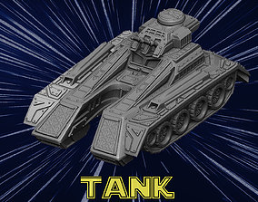 vehicle Future Tank 3D print model