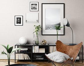 Interior design scene 3D