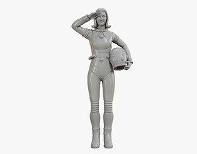 Astronaut Girl 3D print model