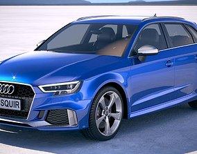 3D model Audi RS3 Sportback 2018