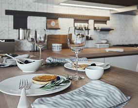 3D Compact light kitchen