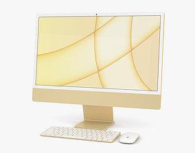 3D model Apple iMac 24-inch 2021 Yellow