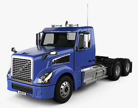 3D model Volvo VNL VT64T 800 Day Cab Tractor Truck 2007