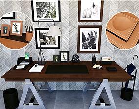 Ralph Lauren tabletops Brennan black and 3D model