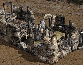 Ruined Trollhouse for DAZ Studio 3D model