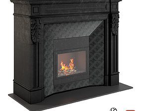 3D model Fireplace in black