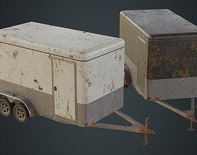 3D asset Cargo Trailer 1B