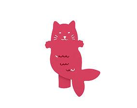 3D print model Bookmark feline