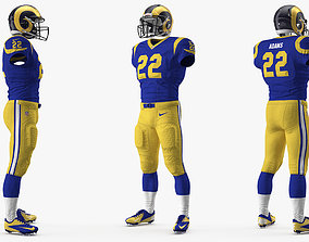 3D model Los Angeles Rams Football Player Uniform