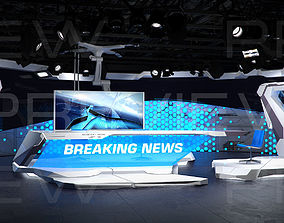 3D model Virtual Broadcast Studio 12