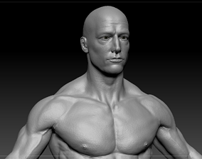 3D model Male body low-poly