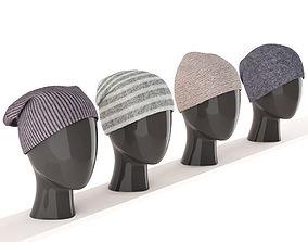 3D hats on mannequins