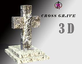 3D asset Cross Grave