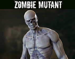 Zombie Mutant 3D model rigged