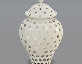 Arabic Pierced Ceramic Lantern 3D model