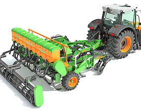 Stara Tractor with Seed Drill 3D model
