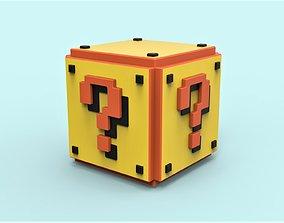 Mario Question cube 3D printable model