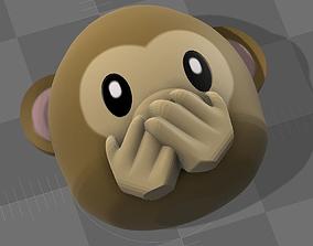 3D print model Emoji Monkey 02