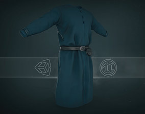 Blue Medieval Top 3D asset