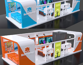 stall decoration Exhibition Stall 3D