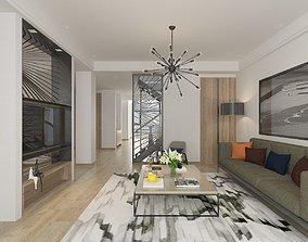 Apartment interior room 3D