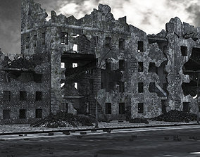 3D asset Ruined City Buildings