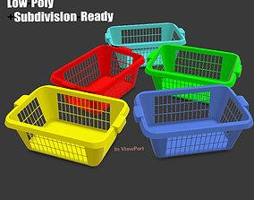 Laundry Hamper basket - Game-Ready 3D model