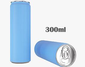 Beverage slim can 300ml 3D model