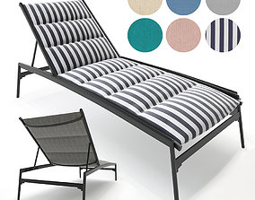 3D Elance Padded Sling Chaise Lounge