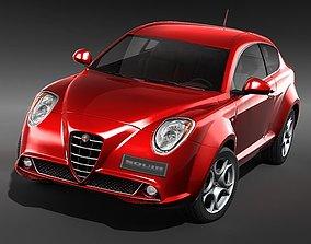 Alfa Romeo MiTo 2009 MidPoly 3D