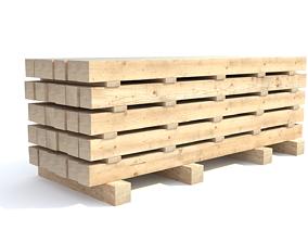 3D model Wooden beam