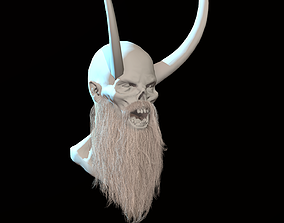 Long Beard Low Poly 3D model