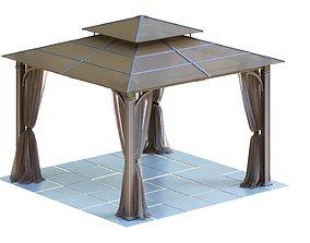 Gazebo 3D model polycarbonate