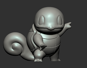 Squirtle 3d Print Statue 1 for 4