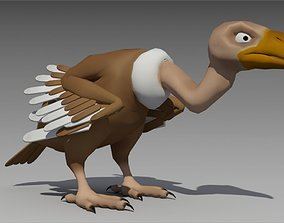 3D asset Vulture Toon Animated