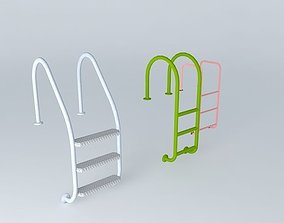 3D pool and parapet ladders