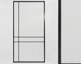 Glass partition door 58 3D model